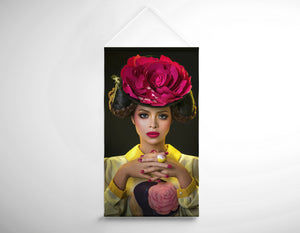 Salon Banner - Woman with Red Flower Headdress