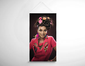 Salon Banner - Woman with Floral Headdress in Pink Dress