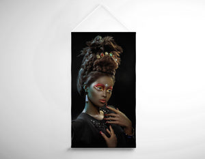 Salon Banner - Woman with Beehive Hairstyle and Jewelry Headdress