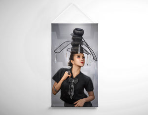 Salon Banner - Woman with Chandelier Headdress