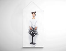Load image into Gallery viewer, Salon Banner - Woman in Quiff Hairstyle with Tree Graphic Design Gown