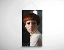Load image into Gallery viewer, Salon Banner - Caucasian Woman in Copper Red Bob Hairstyle