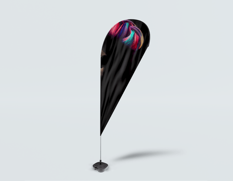 Salon Drop Flag - Hombre en silueta con pelo de unicornio de color neón