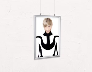 Salon Poster Click Frames, Double-Sided: Man in Bob Haircut with Ash Blonde Hair Color - Bound for Style