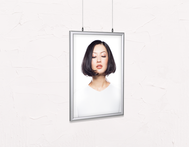 Salon Poster Click Frames, Double-Sided: Woman in Bob Hairstyle - Bound for Style