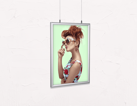 Salon Poster Click Frames, Double-Sided: Woman in High Topknot with Slight Messy Tease