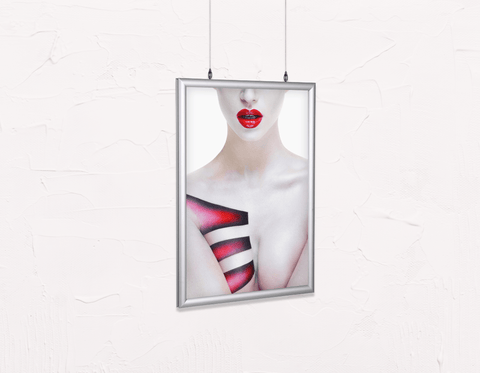 Salon Poster Click Frames, Double-Sided: Woman's Torso with Geometric Body Paint