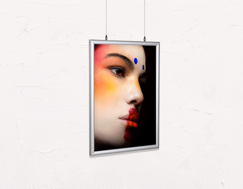 Salon Poster Click Frames, Double-Sided: Woman with Avant-Garde Makeup