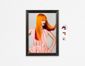 Salon Poster Click Frames, One-Sided: Woman with Long Orange Colored Hair