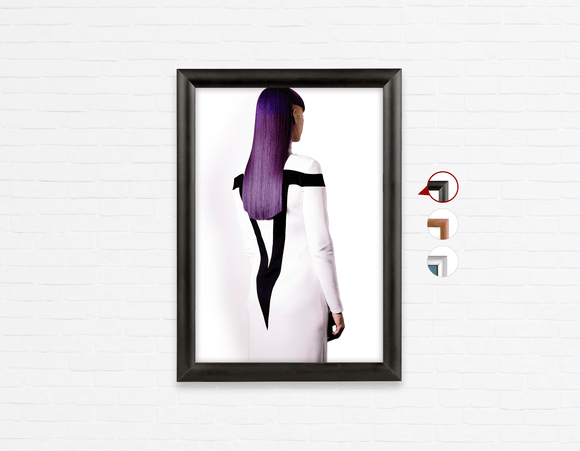Salon Poster Click Frames, One-Sided: Woman with Long Long Color Color Hair - Bound for Style