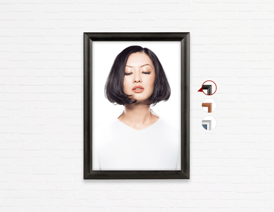 Salon Poster Click Frames, One-Sided:  Woman in Bob Hairstyle