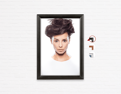 Salon Poster Click Frames, One-Sided:  Woman in Messy Bun Updo