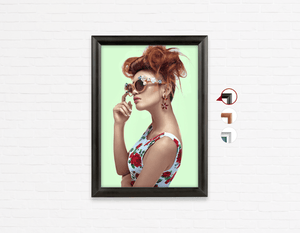 Salon Poster Click Frames, One-Sided: Woman in High Topknot with Slight Messy Tease