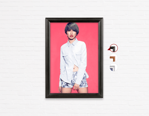 Salon Poster Click Frames, One-Sided: Woman with Bob Haircut and Ash Gray Hair Color