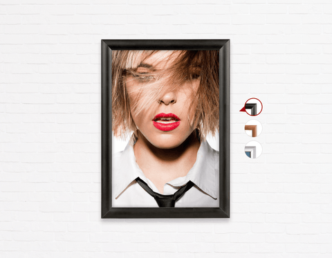 Salon Poster Click Frames, One-Sided: Woman in Blonde Lob with Fringe