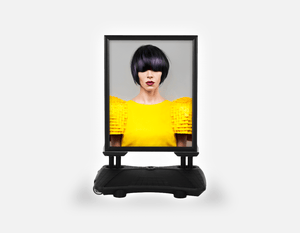 Water Base Pavements Sign: Woman Front with Bob Hairstyle with Purple Highlights - Bound for Style