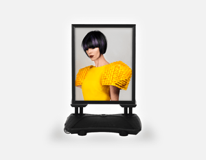 Water Base Pavements Sign: Woman with Bob Hairstyle with Purple Highlights - Bound for Style