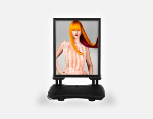 Water Base Pavements Sign: Woman Front with Long Orange Colored Hair - Bound for Style