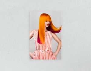 Plastic Salon Posters & Salon Posters: Woman with Long Orange Colored Hair - Bound for Style