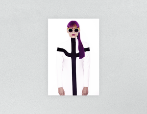 Plastic Salon Posters: Woman with Long Purple Color Hair in Ponytail - Bound for Style
