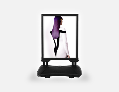 Water Base Pavements Sign: Woman with Long Purple Color Hair - Bound for Style
