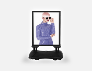 Water Base Pavements Sign: Woman in Pink Hair Colored Pixie Cut - Bound for Style