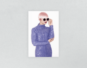 Plastic Salon Posters: Woman in Pink Hair Colored Pixie Cut - Bound for Style