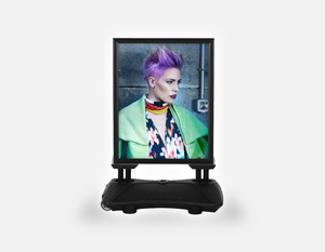 Water Base Pavements Sign: Woman in Purple Pixie Cut - Bound for Style