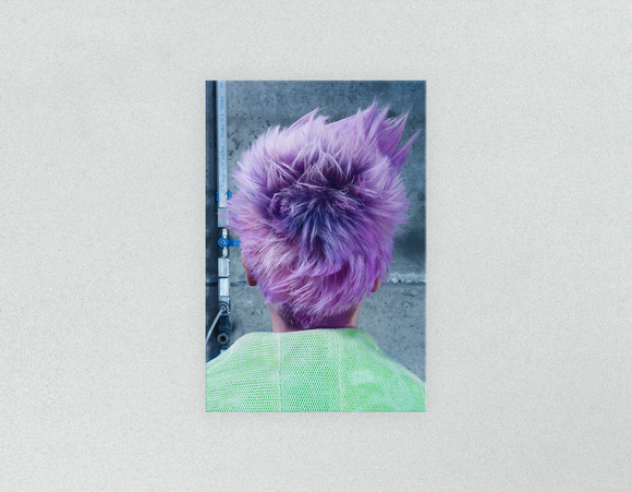 Plastic Salon Posters & Salon Posters: Woman in Purple Pixie Cut Back - Bound for Style