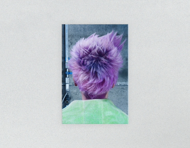 Plastic Salon Posters: Woman in Purple Pixie Cut Back - Bound for Style