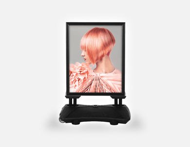 Water Base Pavements Sign: Woman with Pink Colored Bob Hairstyle - Bound for Style