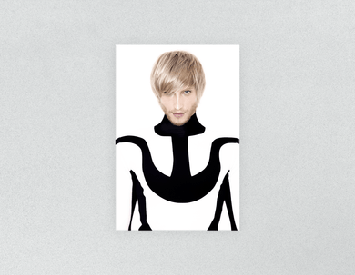 Plastic Salon Posters: Man in Bob Haircut with Ash Blonde Hair Color - Bound for Style
