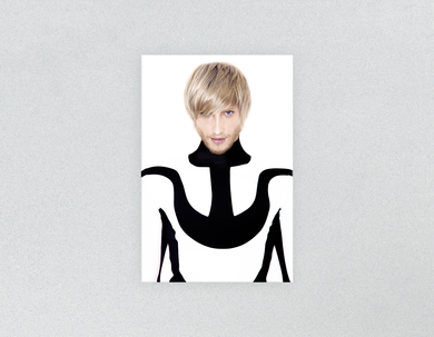 Plastic Salon Posters & Salon Posters: Man in Bob Haircut with Ash Blonde Hair Color - Bound for Style