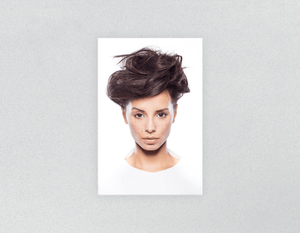Plastic Salon Posters: Woman in Messy Bun Updo - Bound for Style