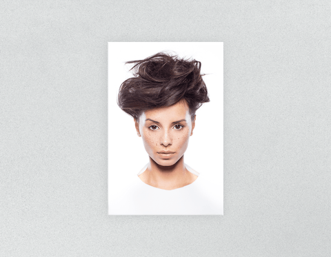 Plastic Salon Posters: Woman in Messy Bun Updo