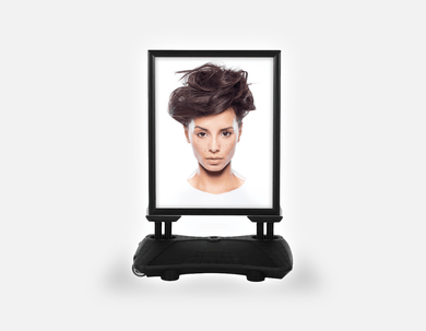 Water Base Pavements Sign: Woman in Messy Bun Updo - Bound for Style
