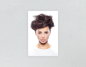 Plastic Salon Posters & Salon Posters: Woman in Messy Bun Updo - Bound for Style