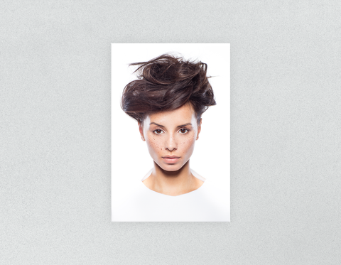 Plastic Salon Posters & Salon Posters: Woman in Messy Bun Updo