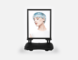 Water Base Pavements Sign: Woman with Side Blue Hair in Graphic Gown - Bound for Style
