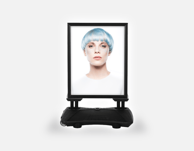 Water Base Pavements Sign: Woman with Front Blue Hair in Graphic Gown - Bound for Style
