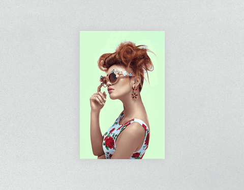 Plastic Salon Posters: Woman in High Topknot with Slight Messy Tease