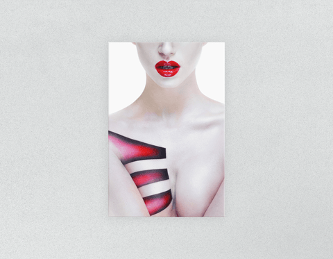 Plastic Salon Posters: Woman's Torso with Geometric Body Paint