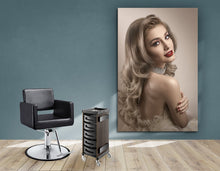 Load image into Gallery viewer, Textile Frame - Woman in Big Curls Hollywood Glam Look