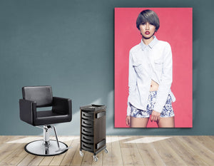 Aluminum Frames and Cloth - Woman with Bob Haircut and Ash Gray Hair Color - Bound for Style