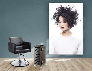 Aluminum Frames and Cloth - Woman with Curly Short Hairstyle - Bound for Style