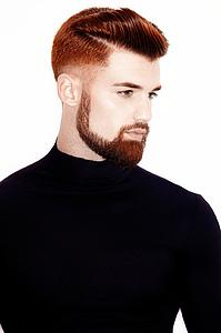Downloadable Photos - Man with High Fade Quiff Haircut in Black Outfit