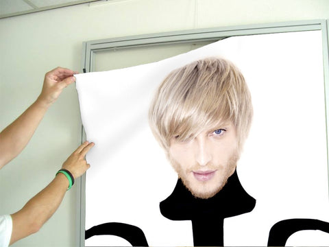 Aluminum Frames and Cloth - Man in Bob Haircut with Ash Blonde Hair Color