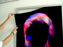Load image into Gallery viewer, Textile Frame - Bob with Neon Colored Hairstyle in Silhouette