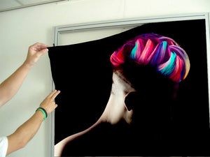 Textile Frame - Man in Silhoutte with Neon Colored Unicorn Hair