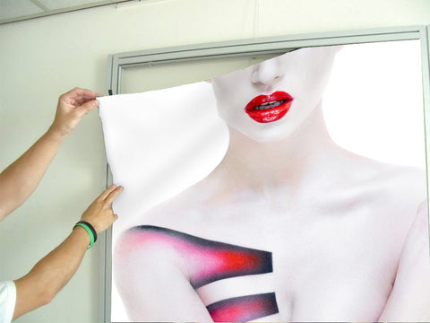 Aluminum Frames and Cloth - Woman's Torso with Geometric Body Paint